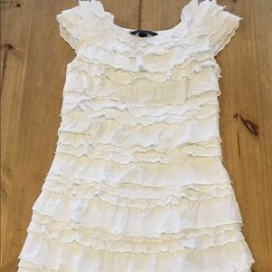French Connection Cotton Eyelet & Ruffle Dress